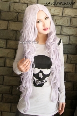 Angel Sanctuary Rosiel central parted 100 cm long silver purple wavy cosplay wig