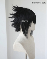 Naruto Uchiha Sasuke short layered spiky black cosplay wig KA032