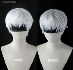( 3 colors) NieR: Automata 9S short bob haircut white cosplay wig . KA001. KA002