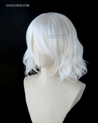 S-4 / KA001 snow white loose beach waves lolita . harajuku wig with bangs .35cm .