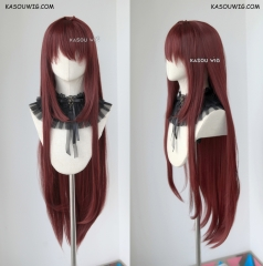 "100cm / 39.5"" Fate Grand Order FGO Lancer Scathach long Brown cherry long cosplay wig"