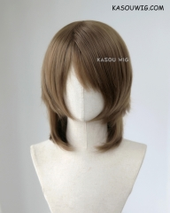 Persona 5 Goro Akechi short raw umber brown cosplay wig. KA025