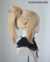 Fate Apocrypha Mordred bright blonde braided ponytail cosplay wig