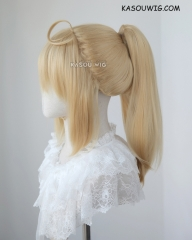 Fate Grand Order / FGO Saber Lily bright blonde ponytail cosplay wig