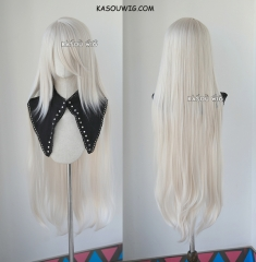 "100cm / 39.5"" NieR: Automata A2 long hair version. long warm white straight wig SP05"