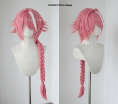 Fate Apocrypha Astolfo 85cm long braid pink cosplay wig
