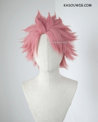 Fairy Tail Natsu Dragonil pink short spiky layers cosplay wig