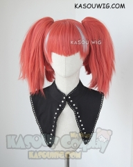 RWBY Neon Katt orange red cosplay wig with four ponytails