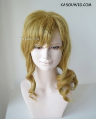 Gekkan Shojo Nozaki kun Yuzuki Seo wavy greenish-blonde shoulder length ponytail cosplay wig