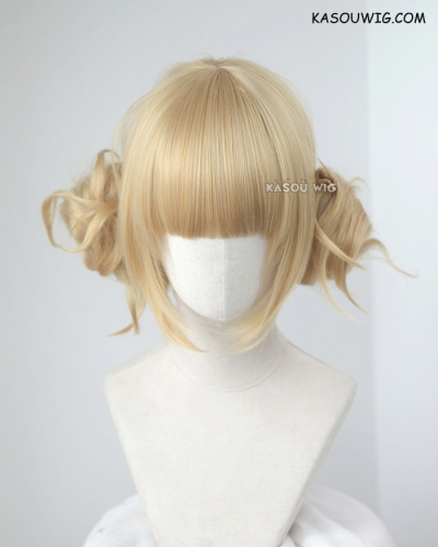 2 colors My Hero Academia Toga Himiko bun set blonde cosplay wig . KA011 KA006
