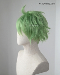 Danganronpa V3 Amami Rantaro blondish green pre-styled short wavy wig