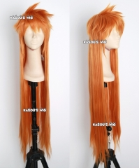 "100cm / 39.5"" Bleach Ichigo Kurosaki long layers spike orange cosplay wig"