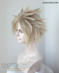 Final Fantasy VII / FF7 Cloud Strife short blonde ombre wig with spikes