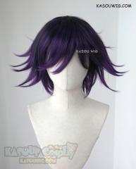 Danganronpa V3 Oma Kokichi short black purple ombre cosplay wig
