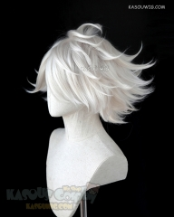Danganronpa V3 Kiibo Fate Apocrypha FGO Lancer of Red Karna pearl white thick spiky short wig SP05