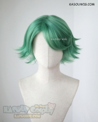 Fire Emblem Echoes Shadows of Valentia Alm green side parted short flippy cosplay wig