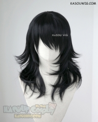My Hero Academia Aizawa Shota Eraserhead 50cm long black layered cosplay wig