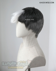 Voltron: Legendary Defender Shiro short grayish black wig with white forelock