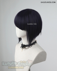 My Hero Academia Jiro Kyoka short deep purple inverted bob cosplay wig