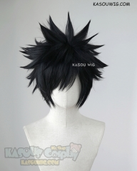 Fairy Tail Gray. My Hero Academia Dabi black short spiky cosplay wig