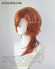 Bungou Stray Dogs Nakahara Chuya 55cm orange ombre curly cosplay wig