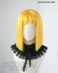 Houseki no Kuni yellow diamond sleek bob cut cosplay wig