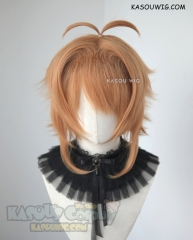 Cardcaptor Sakura Clear Card Kinomoto Sakura pre-styled short golden orange cosplay wig