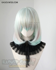 ( Glittering fiber mixed ) Houseki no Kuni Diamond short rainbow bob cosplay wig