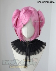 DDLC Doki Doki Literature Club Natsuki pink cosplay wig with chibi twin tails