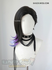 Overwatch Sombra shoulder-length black purple ombre cosplay wig