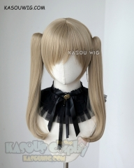 Overwatch D.va Black Cat version clip-on pigtails cosplay wig