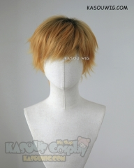 [ Newly Designed ] Tokyo Ghoul Hideyoshi Nagachika short layers golden blonde wig with natural black roots.