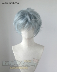 [ New Color ] My hero academia Tomura Shigaraki grayish blue messy short cosplay wig