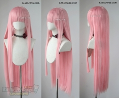 Darling in the Franxx Zero Two pastel pink long blunt cut wig SP12