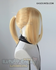 S-3 / SP01 Pastel Yellow ponytail base wig with long bangs.