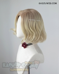 The Avengers Black Widow Natasha Romanoff side parted blonde wig. dark roots