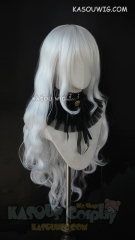 L-3 / KA001 snow white long layers loose waves cosplay wig. heat-resistant fiber
