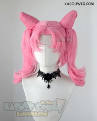 Sailor Moon Chibi Usa Sailor Chibi moon pink cosplay wig curly tails with pre styled buns. clip-on
