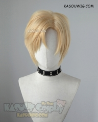 Banana Fish Ash Lynx short side-parted bright blonde cosplay wig