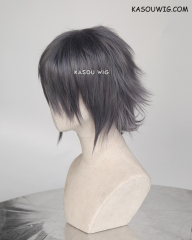 Final Fantasy XV / FF15 Noctis Lucis Caelum short layered bluish gray cosplay wig