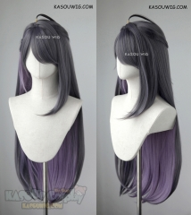 Hypnosis Mic Matenrou Jakurai Jinguji 90cm long straight cosplay wig grayish purple underneath