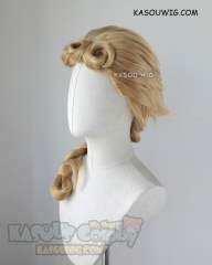 JOJO  JoJo's Bizarre Adventure Giorno Giovanna medium braided blonde cosplay wig