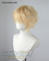 "Noragami Yukine / S-1 KA008 >>31cm / 12.2"" Short yellow blonde layered wig, easy to style,Hiperlon fiber"