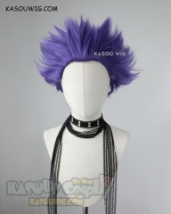 My hero academia Shinsou Hitoshi purple all back spiky cosplay wig