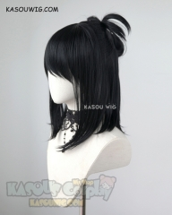 My Hero Academia Shimura Nana medium length black cosplay wig