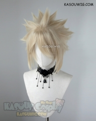 "S-5 KA009 31cm / 12.2"" short Beach Blonde spiky layered cosplay wig"