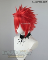 "S-5  KA040 31cm / 12.2"" short  vermillion red spiky layered cosplay wig"