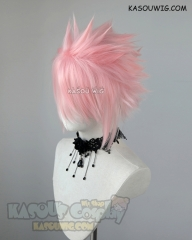 "S-5  KA033  31cm / 12.2"" short light pink spiky layered cosplay wig"