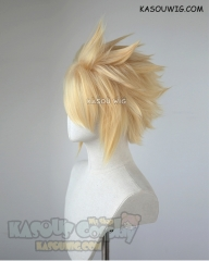 "S-5 KA008 31cm / 12.2"" short yellow blonde spiky layered cosplay wig"