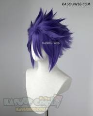 "S-5 KA057 31cm / 12.2"" short cool purple spiky layered cosplay wig"